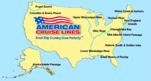 American Cruise Line Map