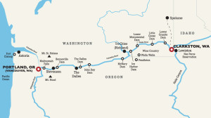 Columbia Snake River Map