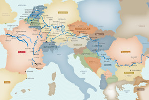 Europe River Cruise Map