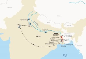 India River Cruise Map