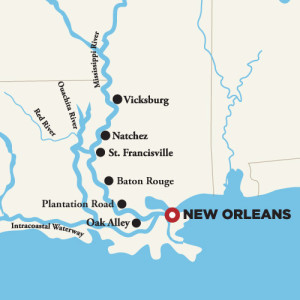 Mississippi River Cruise Map