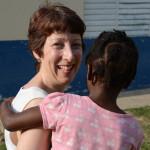 Linda at the SOS Children's Village in Jamaica