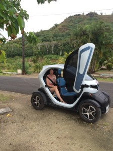 Twizy car around Bora Bora