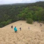 Walking down in the sand at Dune du Pilat