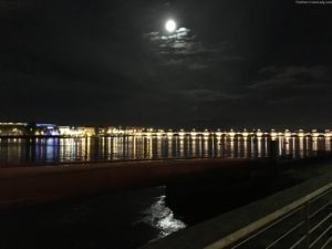 Moon over Bordeaux