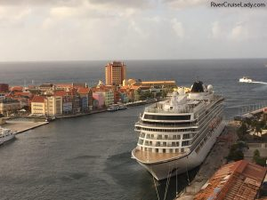 Viking Sea Docked in Curacao