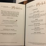 Waterside Lunch menu