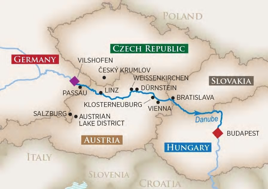 River Cruise Lady Linda's Romantic Danube River Cruise Itinerary
