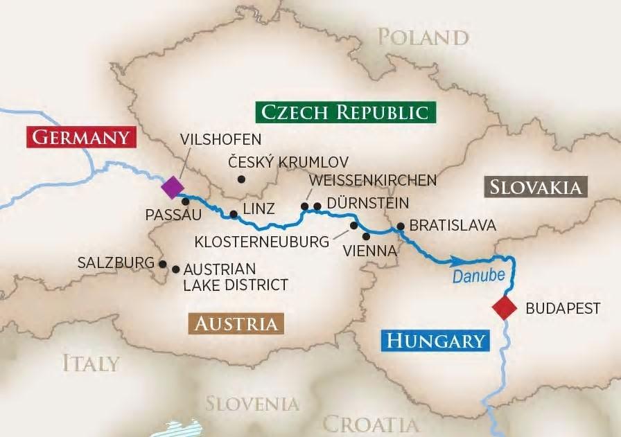 River Cruise Lady Linda's Romantic Danube River Cruise Itinerary