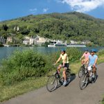 Biking along Moselle Rive
