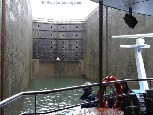 Ama Waterways Inside a river cruise lock