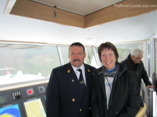 Danube River Cruise Captain with RiverCruiseLadyLinda