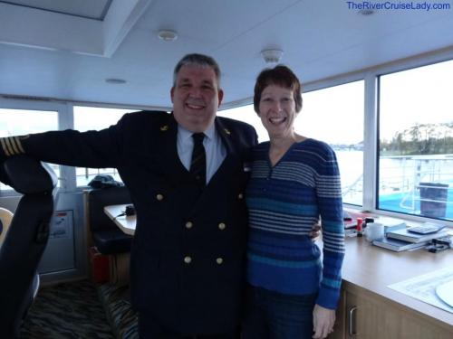 Ama Waterways Captain with RiverCruiseLadyLinda (same as Danube one!)